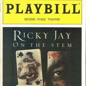 Ricky Jay on the Stem  Playbill  Second Stage 2002